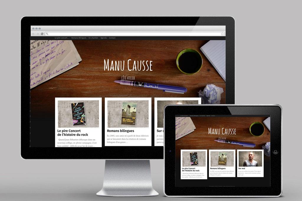Page d'accueil du site de l'auteur Manu Causse