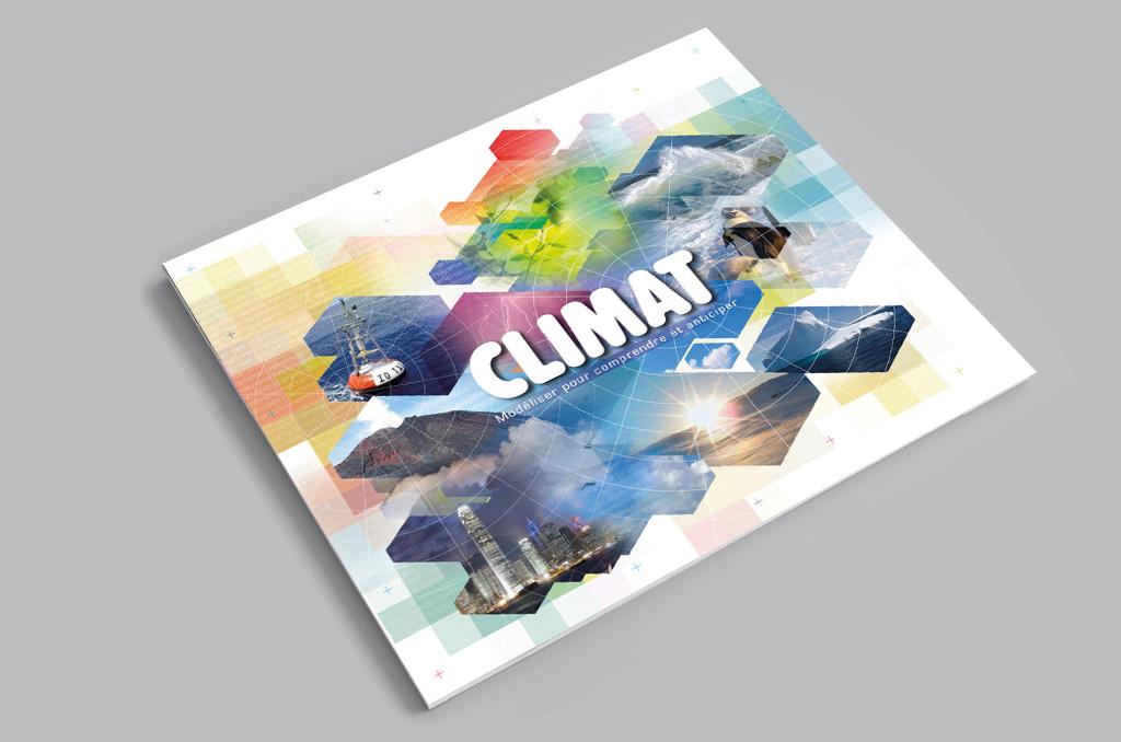 Couverture et visuel pour la brochure Climat pour Météo-France