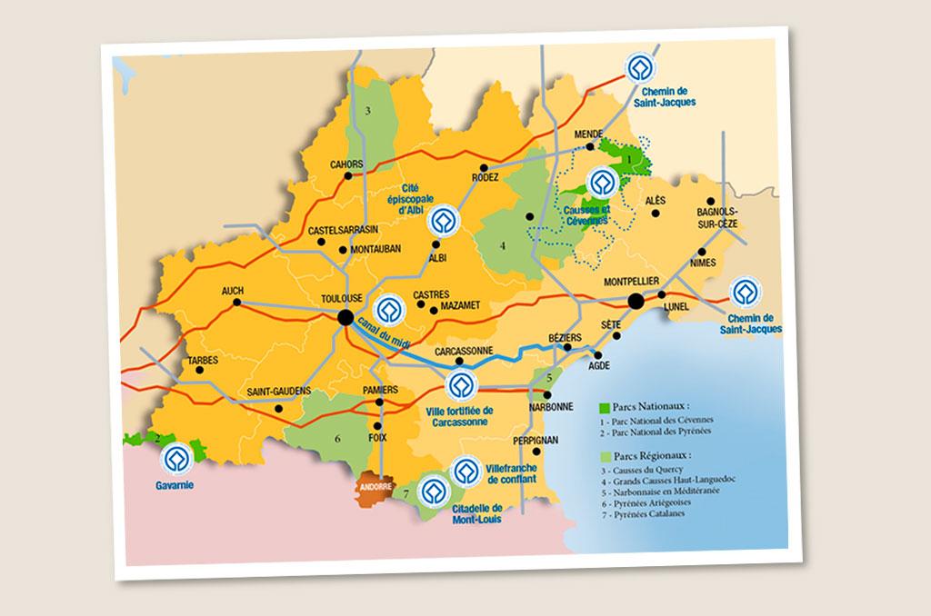 Infographie sur le patrimoine de Midi-Pyrénées