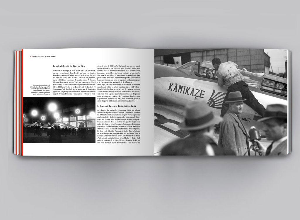 double page intérieure L'aviation sous le front populaire