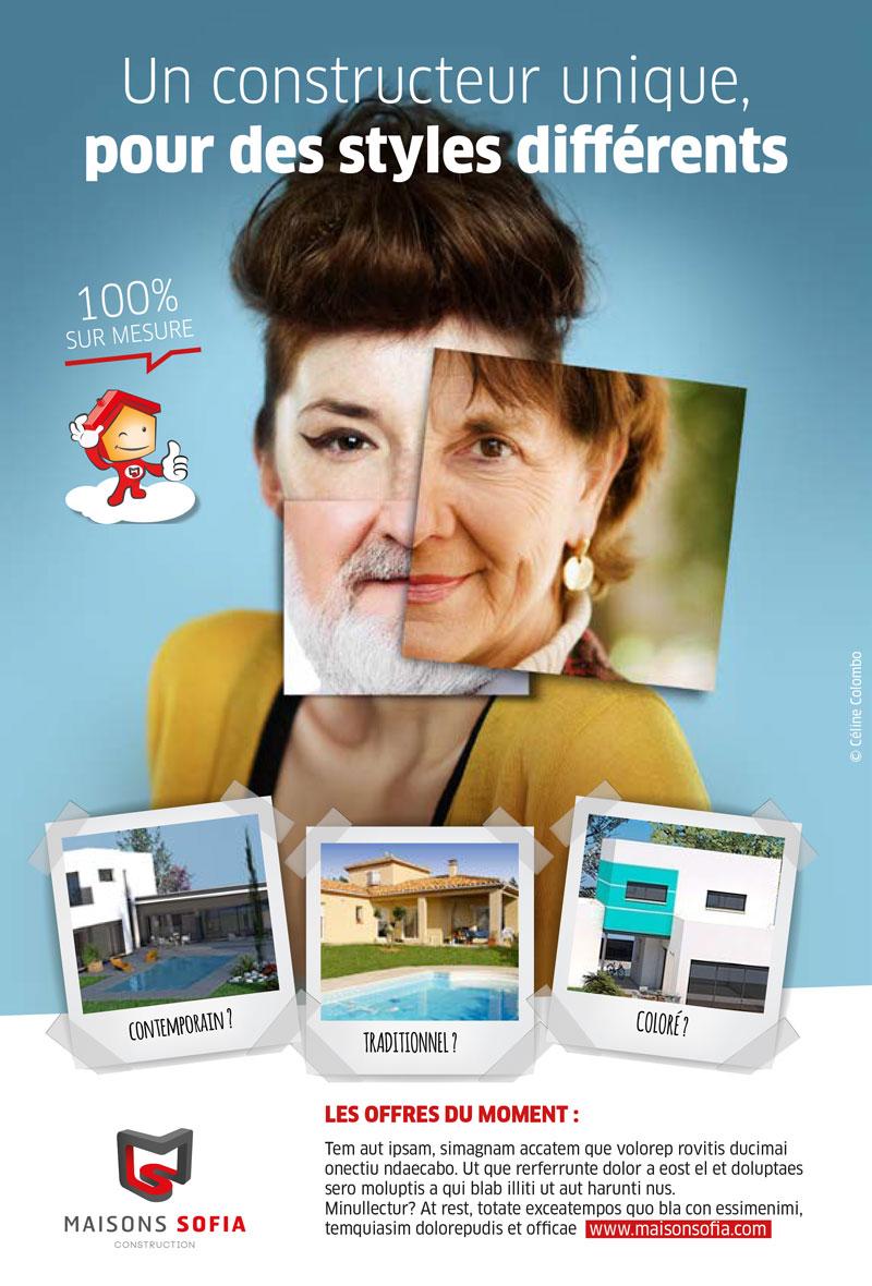 Créa visuel et concept pour O2pub