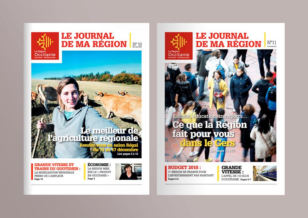 Depuis 2010, en collaboration avec Sandrine Arribeux, conception, réalisation du Journal de la Région Occitanie